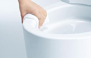 トイレ機能-フチなし便器画像