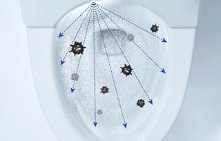 トイレ機能-除菌機能画像