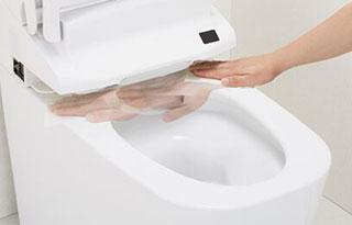 トイレ機能-お掃除リフトアップ画像