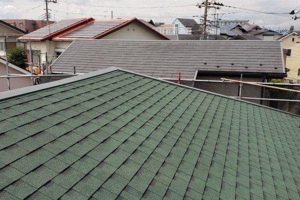 ①アフター屋根葺き替え