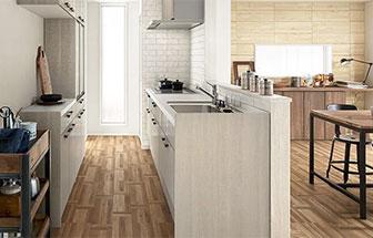 セミオープンキッチン(半独立型)